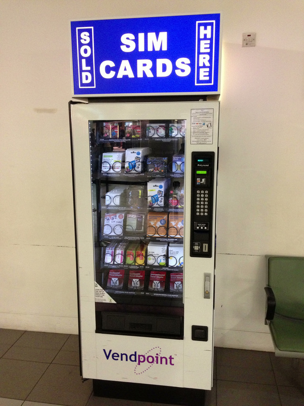 SIM Vending Machine Narita Airport Japan